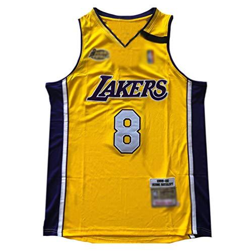 QQVV # 8 Kobe Bryant Fan Trikot Mesh Basketball Jersey Weste Jersey,Lakers 99-00 Saison Champion Version Präzisionsstickerei ärmelloses Unterhemd Hemd Tops Herren Jungen-A_S—Weihnachten Sportgeschenke