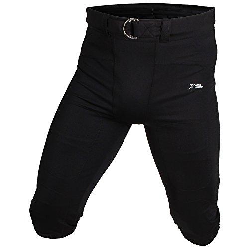 Active Athletics American Football Hose, Gamepants No Fly (mit breitem Gürtel) - schwarz M
