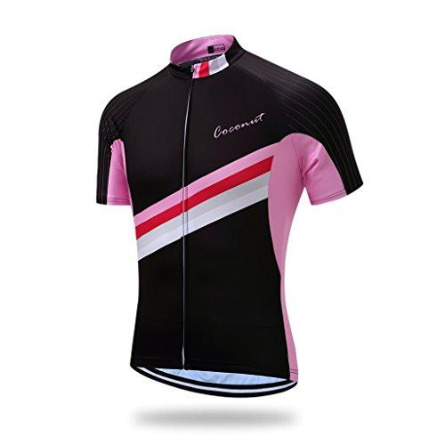 Coconut Ropamo Men's Shorts Sleeve Cycling Jersey Tops Bike Clothing Biking Shirt with 3 Pockets (2XL, 2016)