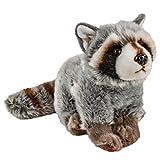 Teddys Rothenburg Kuscheltier Waschbär grau 40 cm (mit Schwanz) Stoffiere Waschbären aus Plüsch