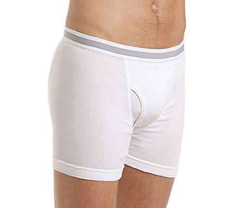 I-Smalls Haigman Boxer en Coton Élastique Lot de 3 sous-Vêtements Blanc Homme (L)