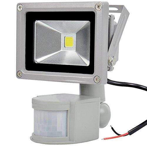 GLW 10W Proyector Sensor de Movimiento LED 12V AC o DC,Luz Exterior...