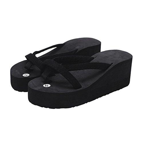 Chanclas de Playa tacón Alto para Mujer, QinMM Casual Zapatos Verano baño Sandalias