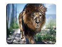 ライオン雄大な雄ライオンカスタマイズされた長方形滑り止めゴムのゲーム