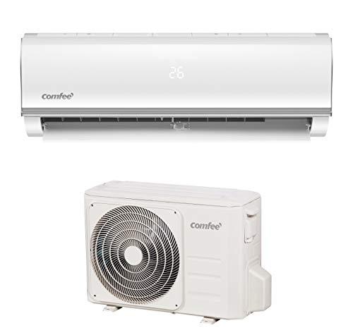 Comfee Split-Klimageräte MSAF5-09HRDN8-QE R32 SET, Leise Festinstallierte Split Klimaanlage für Räume bis ca. 80 m³(32 ㎡), 8800 BTU, 2,5 kW, Luftkühlung/luftheizung/Luftentfeuchter, EEK A+/A++