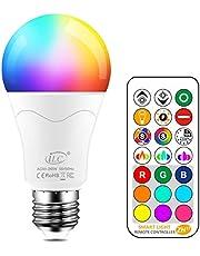 iLC LED lampa ersätter 85 W, 1 050 lumen, RGB glödlampa med fjärrkontroll färgväxling färgad glödlampa varm vit (2 700 Kelvin), Edison E27