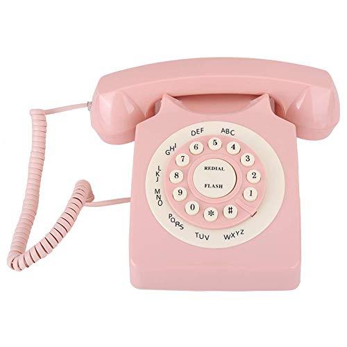 Pillowcase 123 Archuu Vintage teléfono Fijo, teléfono Retro Europeo con Cable, teléfono con Cable con Teclado numérico para Oficina en casa