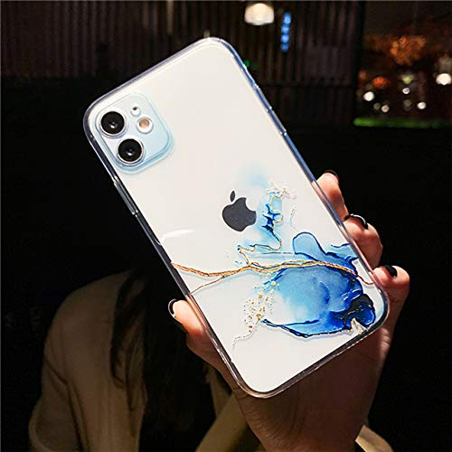 LIUYAWEI Funda para teléfono con Pintura de Acuarela para iPhone 12 11 Pro MAX XR XS MAX Funda Transparente a Prueba de Golpes para iPhone 8 7 Plus 12 Mini contraportada, T1, para iPhone 6 Plus