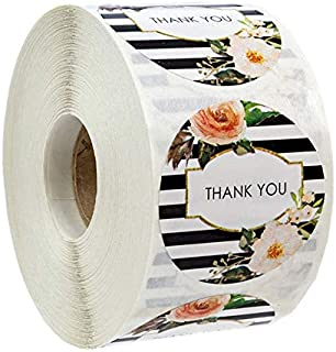ملصقات عيد الشكر دائرية 500 قطعة / لفة من 500 قطعة من MIYU ملصقات ختم ملصقات مخصصة لتزيين الزفاف (اللون: YH222 500 قطعة)