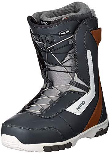 Nitro Snowboards Herren Sentinel TLS '20 All Mountain Freestyle Schnellschnürsystem günstig Boot Snowboardboot, 28.0, NAVY BL-BROWN-WHT