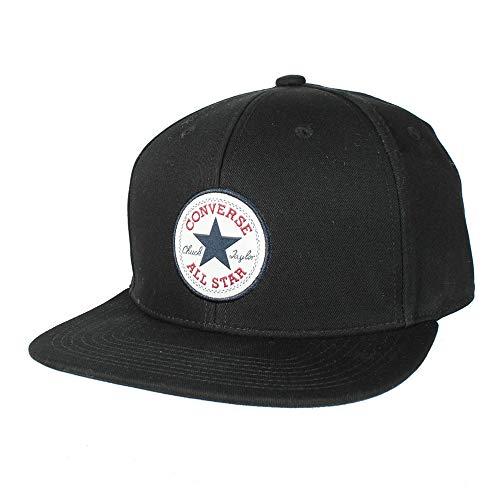 Converse Chuck Patch Snapback Cap Basecap Baseballcap Flat Brim (One Size - schwarz)