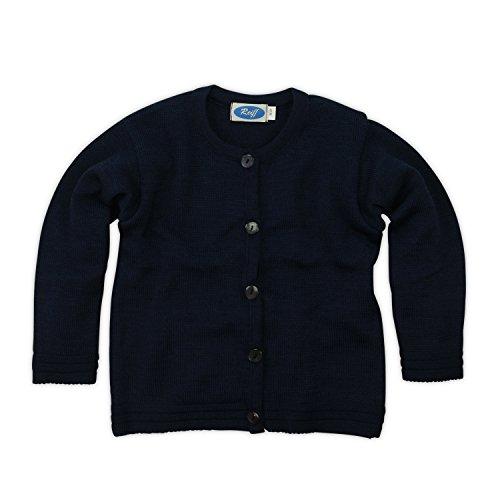 Strick-Jacke aus feiner Wolle kbT und Seide von Reiff by Wollbody®, Marine, 116