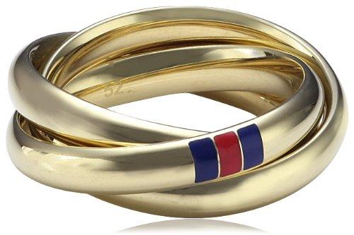 Tommy Hilfiger jewelry Damen-Ring Edelstahl IP gold beschichtet Gr. 56 (17.8) 2700403D