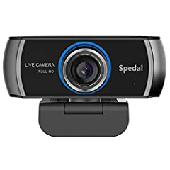 【Full HD 1080p Webcam Plug And Play】Full high video and image definition 1080p webcam with Full HD 7-layer coating lens will capture and provide crystal clear images. Plug and play with USB 2.0 port, no drivers required. 【Built-in Dual Noise Cancelin...