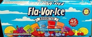 Fla-vor-ice Freeze Pops, 6 Assorted Flavors 45 x 5.5 Oz (2 pack) Jumbo size