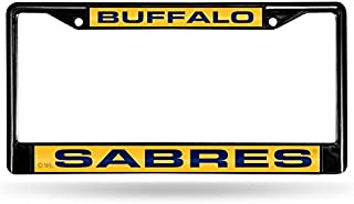Rico Industries NHL Unisex-Adult NHL Laser Cut Inlaid Standard Chrome License Plate Frame