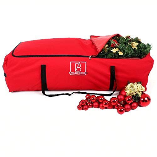 Barlborough X Large Christmas Tree Storage Bag | 135cm x 54cm x 38cm| Protection For Artificial Xmas Trees & Decorations | Strong Quality XL Waterproof Lockable Large Holdall Bags
