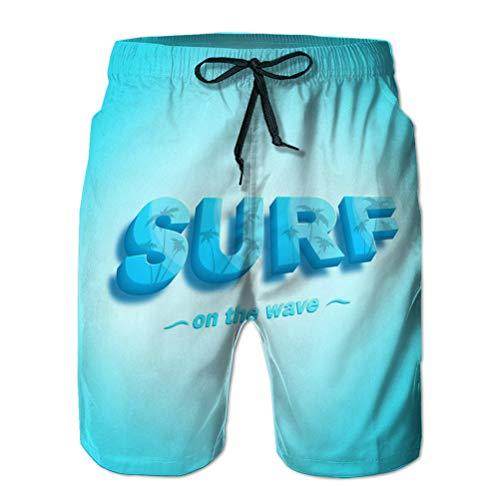 Shorts de natación de Verano para niños Troncos para Correr Ilustración de cordón con Estampado de Olas de Surf D Letras Usan Otras esferas d Letras M
