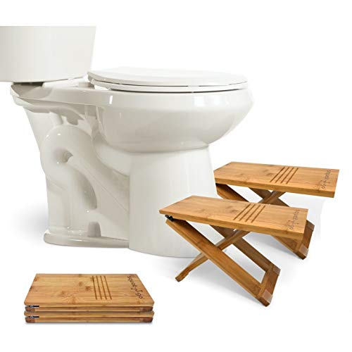 Squat N Go Bamboo X Toilet Stool | Fully Adjustable, Ultra Portable & Eco Friendly | Bonus Travel Bag Included