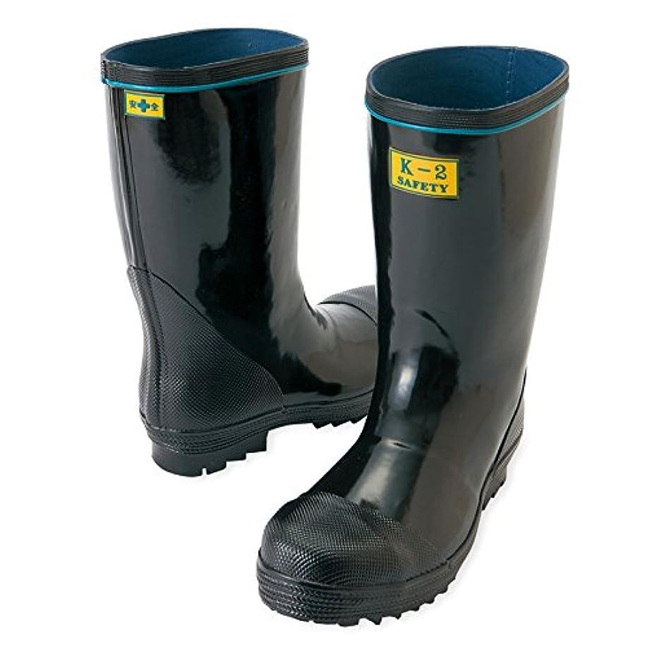 上級雑種急行するアイトス AITOZ 鋼製先芯入り 安全ゴム長靴 タイプ (K-2) (AZ58600) 【24.0~29.0cmサイズ展開】