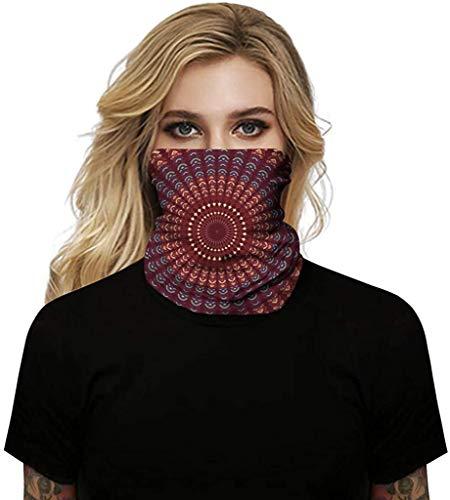 Avacoo Multifunktionstuch Damen - Atmungsaktiv & Schnelltrocknend - Wind Face Shield - Motorrad Gesicht Mundschutz Maske Mund-Tuch Halsschlauch...