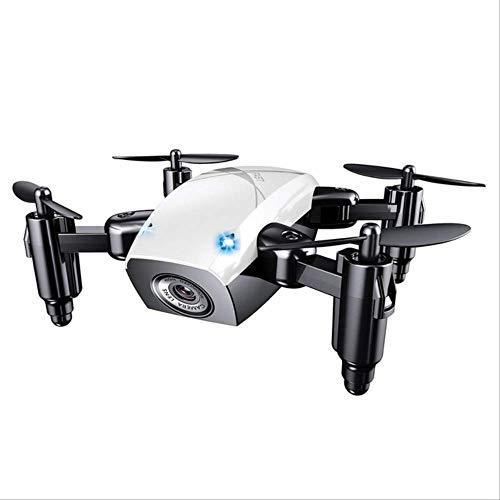 xiaozhu1218 S9. Mini Drone Plegable con Cámara Drone De Bolsillo Micro Drone RC Helicopter con Cámara HD Altitude Hold WiFi FPV Quadcopter Dron Blanco sin cámara