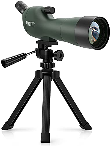 Emarth 20-60x60AE 45 Degree Angled Spotting Scope with Tripod, Carry Bag, Scope for Target Shooting Bird Watching Hunting Wildlife
