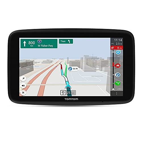 """TomTom GO Discover 7"""" GPS Navigation Device with Traffic Congestion and Speed Cam Alerts Thanks to TomTom Traffic, World Maps, Updates via WiFi, Parking Availability, Fuel Prices, Click-Drive Mount"""