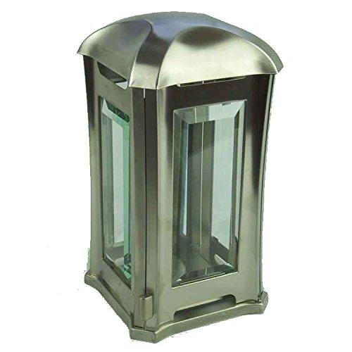 designgrab AEL5 Venezia Lampe funéraire en Acier Inoxydable Argenté 13 x 13 x 24 cm