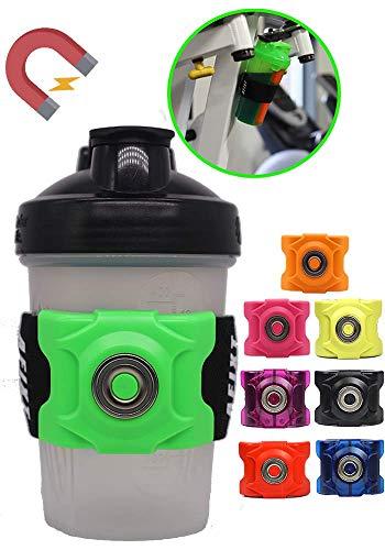 AFIXT 磁気ボトルホルダー ブレンダーボトルシェーカーカーカップや他の多くのウォーターボトル用 調節可能なゴムスリーブ付き 様々な形状とサイズにフィット
