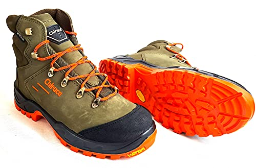Scarpe da Caccia Uomo Impermeabili Scarponi da Trekking Chiruca in Goretex Tecnica Impermeabile Scarponcino Alta visibilita Arancione (Numeric_40)