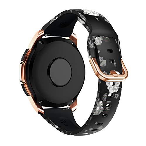 YPSNH Compatibile per Cinturino Samsung Galaxy Watch 42mm Cinturini di Ricambio in Silicone 20mm Braccialetto Compatibile con Galaxy Active/Active2/ Gear S2 Classic/Gear Sport/Galaxy Watch 3 41mm