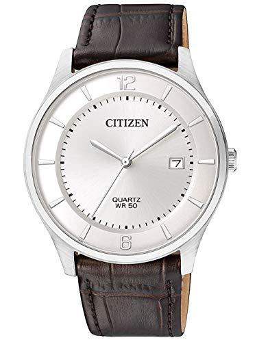 Citizen Reloj Analógico para Hombre de Cuarzo con Correa en Cuero BD0041-11A
