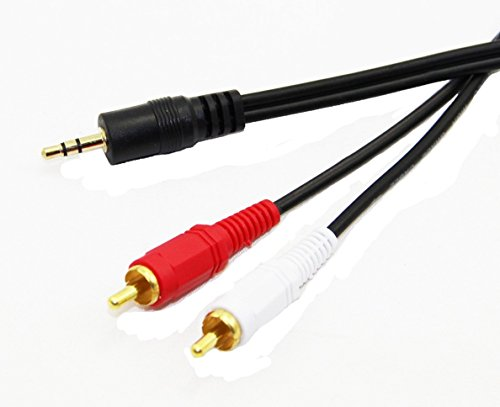 C&E 3.5mm Stereo Male to Dual RCA Male (Right and Left) Audio Cable, 6 Foot