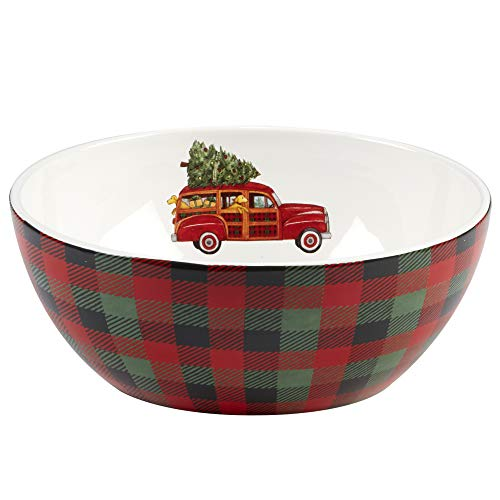 Certified International Home for Christmas Deep Bowl 10' x 4' Servware, Serving Accessories, One Size, Multicolored