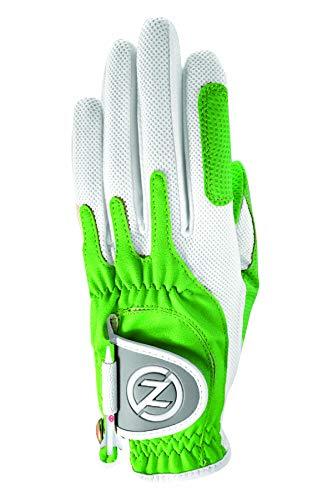 Zero Friction Null Reibung Damen-Compression-fit Synthetik Golf Handschuhe, Universal Fit One Size, Damen, lindgrün, Einheitsgröße