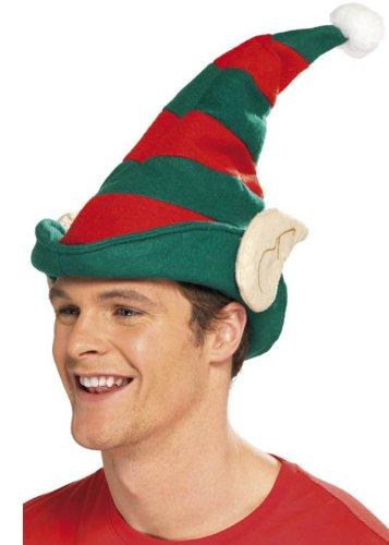 Christmas Helper Striped Elf Hat with Ears (struts-11667)