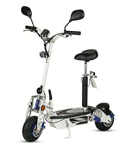 Virtuemart Patinete Scooter eléctrico matriculable homologado, Plegable con suspensión Motor de 1000w,...