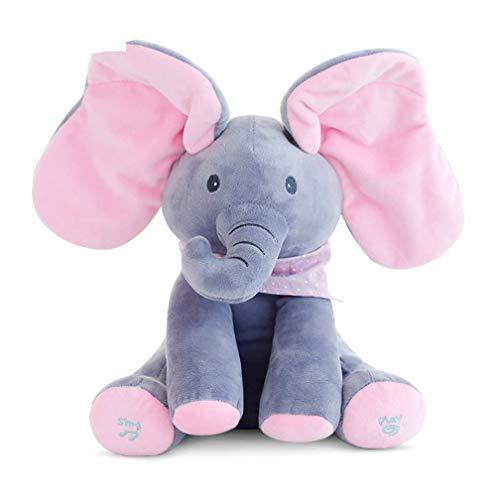 EASTVAPS Peek a Boo Elefante Juguete de Peluche Jugar a Las