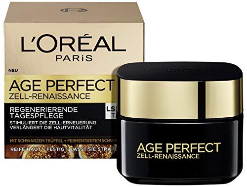 L'Oreal Paris reichhaltige Anti-Aging Feuchtigkeitspflege für frischer wirkende Haut, Tagescreme Age Perfect Zell-Renaissance, 50ml