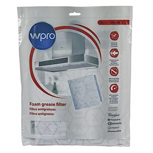 wpro UGF005 - Dunstabzugshaubenzubehör/ Fettfilter/ Universell/ Zuschneidbar/ Mit patentierter Sättigungsanzeige