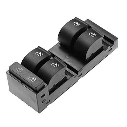 Interruptores De Botón para Audi A3 A6 S6 RS6 S6 1998-2004 Interruptor De Control De Ventana De Energía Principal Delantero Izquierdo 4B0959851B (Color : Black)
