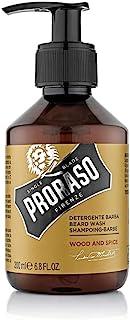 Proraso Refreshing Wood and Spice Beard Shampoo, Brown, 200 ml