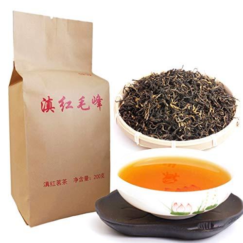 200g (0.44lb) Dian hong maofeng tee großer congou schwarzer tee premium roter tee Chinesischer mao feng dian hong berühmten yunnan schwarzer tee Grüne lebensmittel