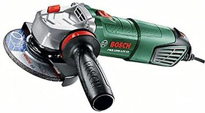 Foto di Bosch PWS 1000-125 CE Smerigliatrice Angolare, Sistema Dust Protection, Bosch Vibration Control, Valigetta