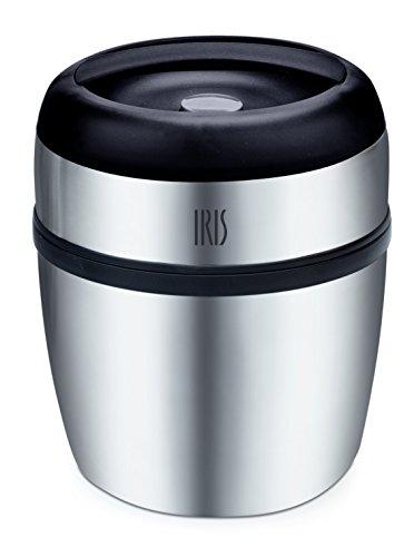 Iris - THERMO DUO 1L Double Paroi Inox avec Compartiment (silver)