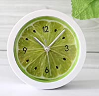 GXZZサイレントファッション目覚まし時計、牧歌的な牧草地クリアフルーツレモン目覚まし時計創造的な時計時計ギフト装飾