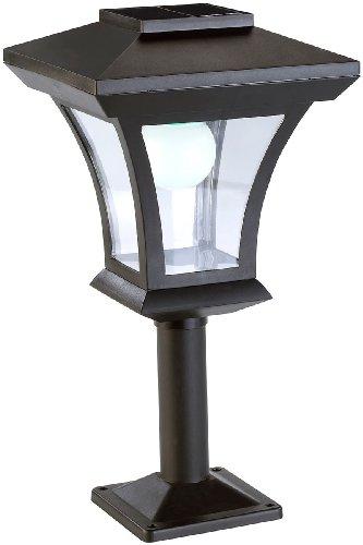 Lunartec Solar Gartenlaterne: Solar-LED-Standleuchte SWL-05 im Laternen-Design, 45 Lumen, 0,3 Watt (Garten Standleuchte Solar)