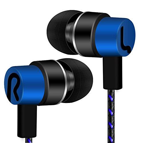 Kopfhörer Universal 3,5 mm In-Ear-Stereo-Ohrhörer-Kopfhörer In Ear Kopfhörer für Handy (Blau)