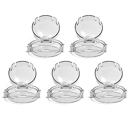 Tapas transparentes para pomos de estufa, protector universal de interruptor de cocina...